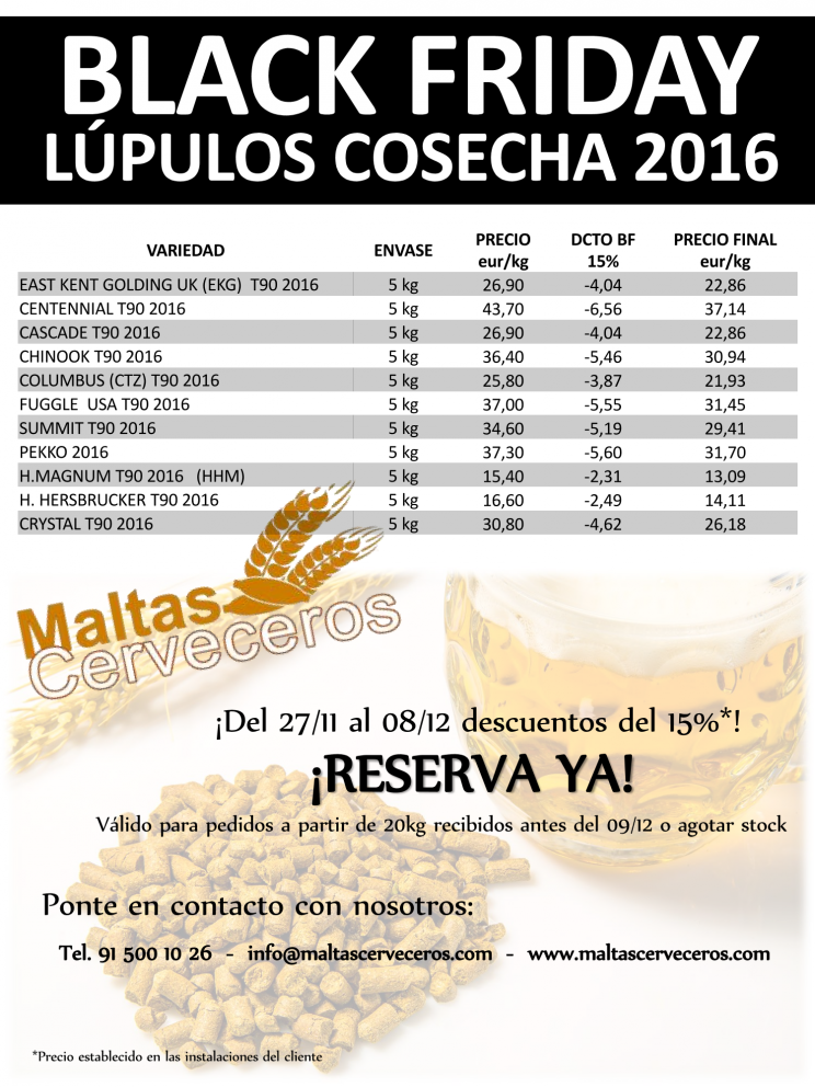 Black Friday Lupulos Cosecha 2016
